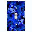 Metal Light Switch Cover Wall Plate Artistic Camouflage Blue Pattern
