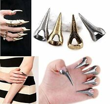 10pcs Retro Punk Rock Gothic Talon Nail Vintage Bronze Finger Claw Spike Rings