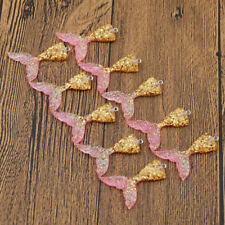 10 Pcs Charm Mermaid Tail Resin Pendants Jewelry Antique Multicolor DIY Decor