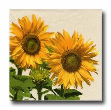 4 Servietten Napkins Tovaglioli Motivservietten Blumen Sonnenblumen (085)