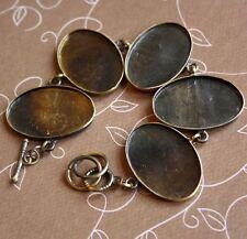 Solid Bracelet Big Oval Cabochon Resin Blanks  - 2 pcs