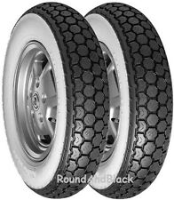 Continental K62 Whitewall Scooter Tyre Pair 3.50-10 & 3.50-10 VESPA  PX (350/10)