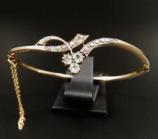 Antiker 1,75 ct Diamant Armreif 585 Rotgold Jugendstil Armband um 1890 Bangle