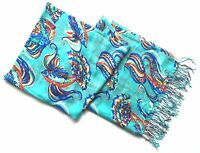 New Lilly Pulitzer Cashmere Silk Murfee Scarf Shawl Shorely Blue She Got Sole