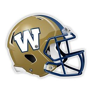 Winnipeg Blue Bombers Football Helmet  Precision Cut Decal / Sticker