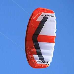 3m² Red Dual Line Traction Kite Power Trainer Kite Kiteboarding KITESURFING