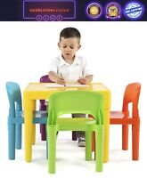 Kids Plastic Table and 4 Chairs Set Tot Tutors,Vibrant and primary Colors NEW