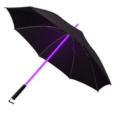 Light Sabre Rainbow LED Multi Farbwechsel Sonnenschirm Golf Schirm gr
