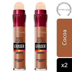 2 Pack Maybelline Instant Age Rewind Anti Age Eraser Eye Concealer, 12 Cocoa