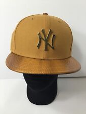 9Fifty NY Yankees Snapback Khaki Gold Plated Metal Logo Not Plastic