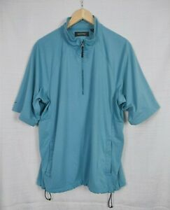 Play Dry By Greg Norman Men's Short Sleeve Shirt Size M VGC Polyester Golf