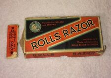 Rolls Razor Vintage Imperial No 2 Box Set Blade Instructions England Stainless