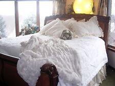 Soft Surroundings Saint-Claud Cotton Comforter White King Plus 2 King Shams