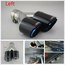 66-89mm Glossy Carbon Fiber Car Dual Exhaust Pipe Tail Exhaust Muffler Tip -Left