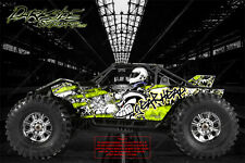 "AXIAL YETI ROCK RACER DECALS WRAP GRAPHICS ""GEAR HEAD"" FITS OEM BODY PARTS 1/10"