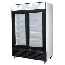 New 2 Sliding Glass Door 49 cu ft Refrigerator Cooler Migali C-49Rs-Hc #9626 Nsf