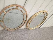 58962 Pair Oval Gold Decorator Mirrror s Mirrors Mirror Fair Ny