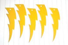 80s Retro Kitsch Lightning Bolt Charm Pendants Rockabilly Hard Rock Punk