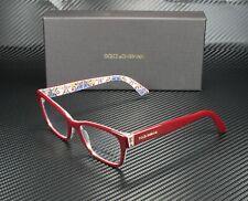 Dolce & Gabbana DG3274 3179 BORDEAUX MAIOLICA DEMO LENS 52 mm Women's Eyeglasses