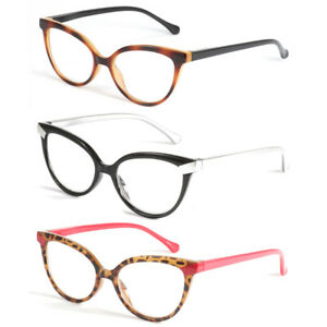Women Reading Glasses Reader Cat Eye Blue Light Blocking 1.0 1.5 2.0 2.5 3.0 3.5