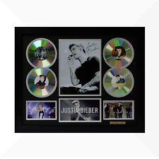 Justin Bieber Signed & Framed Memorabilia - 4 CD - Black/Silver Limited Edition