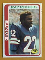 Topps 1978 #188 Ray Rhodes - New York Giants