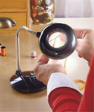 ADJUSTABLE TABLETOP 3X MAGNIFYING LAMP 18 LED LIGHT LAMP HEAD 3 LIGHT SETTINGS