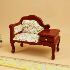 1:12 Wooden Sofa for Dolls House Miniature Bedroom Furniture Mini Living Room
