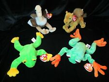 Ty Beanie Babies Collection Lot Of 4 Panama Frog Smoochy Frog Niles Camel Stretc