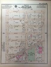 ORIG 1928 G.W. BROMLEY, JOSEPH R. DRAKE PARK, HUNT'S POINT, BRONX, NY ATLAS MAP