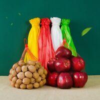 100 Pcs Plastic Nylon Mesh Net Bags for Vegetable Fruit Egg Toys Food Storage.