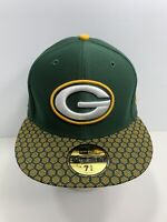 """New Era NFL 59FIFTY Green Bay Packers 7 5/8"""" Fitted Flat Bill Cap, NEW!"""