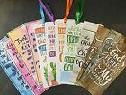 Lot 12 'Bible Verse Inspirations' Bookmarks Christian Ribbon Cactus Watercolor