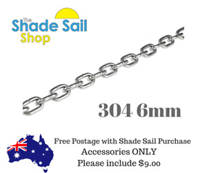 6mm 304 1 Metre length 304 Stainless Steel for shade sail installation Boating
