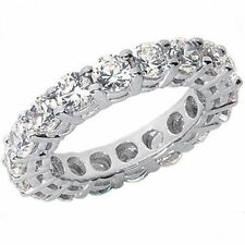 2.21 carat Round Diamond Ring Platinum Eternity Band F-G Vs/Si1, 22 x 0.10 sz 6