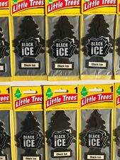 Little Trees U6P-60155 Black Ice Hanging Paper Tree Car Air Freshener - 24 Pieces