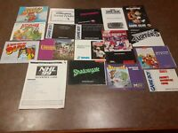 Lot of 18 Manuals Instruction Booklets SNES NES NINTENDO GAME BOY SEGA