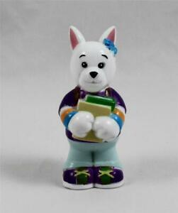 Webkinz School Time Terrier PVC Dog Figure School Books