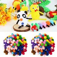 2000x DIY Mixed Color Soft Fluffy Pom Poms Pompoms 8mm Ball Craft For kids G6H0