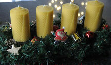 2 x Bienenwachskerzen XL 100 % Bienenwachs Kerzen 125 x 65mm Handarbeit aus D