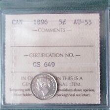 1896 5 Cent ICCS AU-55 2 Letter Coin Flip