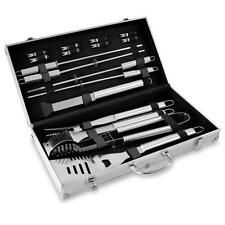 Grill Utensil Set 17 Pc Stainless Steel BBQ Tools Outdoor Barbecue Cooking Case