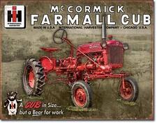 IHC McCormick Farmall cub estados unidos tractor escudo de metal