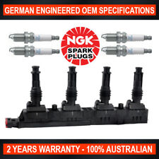 4x Genuine NGK Spark Plugs & Ignition Coil for Holden Barina Combo XC Z14XEP
