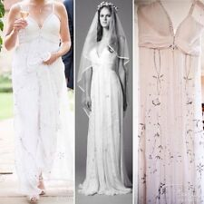 Chiffon Plunging Empire Wedding Dresses