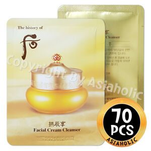 The history of Whoo GongjinHyang Facial Cream Cleanser 2ml x 70pcs (140ml) New