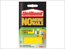 Unibond no más Uñas Extraíbles Tiras De Doble Cara Interior Exterior 20mmx40mm