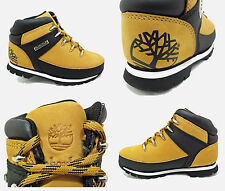 New Boys TIMBERLAND Leather Boots Kids Sale Lace Euro Sprint Split Rock Size 7-6