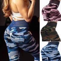 Women's Sports Yoga Pants Print Leggings High Waist Gym Fitness Stretch Trousers