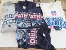 Lot of 5  New England Patriots Men Tee shirts  4 XL AND 1 2X TOTAL OF 5 SHIRTS